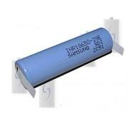 Samsung INR18650-29E Pila de ion de litio (2900 mAh / 3C -aprox. 8,5 A, formato 18650, con soldadura de níquel en forma de U)