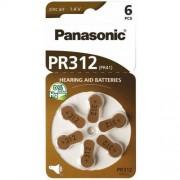 Panasonic 6 x baterie do aparatów słuchowych Panasonic 312 / PR312 / PR41