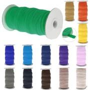 Magideal 50 Yard Elastic Stretch Ribbon Tape Band Trim Strap Sewing Lake Blue 15Mm