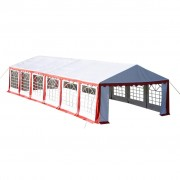 Party Tent Top and Side Panels 12 x 6 m Red & White