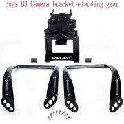 Generic black : MJX Bugs B3 X101 black plugin RC Camera bracket + large curved long legs Drone Spare Parts Landing Gear Upgrade Ve