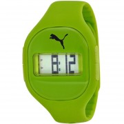 Fuse Digital Dial Lime Green Silicone Unisex Watch