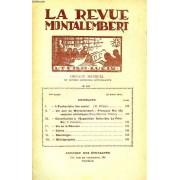 Revue Montalembert, 24e Annee, N° 192, Avril 1931, Organe Mensuel De Divers Groupes D'etudiants