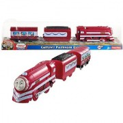 Year 2013 Thomas and Friends As Seen On King of the Railway DVD Series Trackmaster Motorized Railway Battery Powered Tank Engine 3 Pack Train Set - CAITLIN'S PASSENGER EXPRESS with 1 Coal Car and 1 Passenger Car