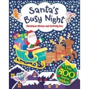 Santa's Busy Night Sticker Activity Book by Igloo Books