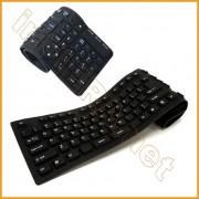 Tastiera USB per PC flessibile in gomma siliconica impermeabile