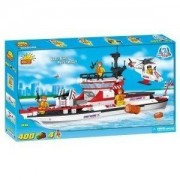 New! COBI Action Town Coast Guard Team Patrol Vessel 400 Piece Building Block Set