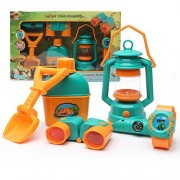 Wishtime Pretend play mini camp out set with Oil-Lamp and telescope camping combination set for any little scout...