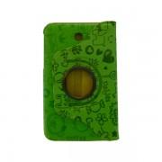 Funda Giratoria Samsung Galaxy Tab 3 7 pulgadas verde decorada