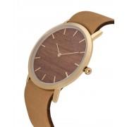 Analog Watch Classic Makore Wood Dial & Tan Strap Watch GT-CM