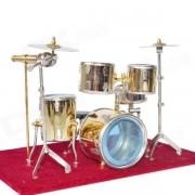 DEDO Gild Music Art MG-243 Gold-plated Mini Jazz Drum - Red + Golden