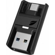 USB Flash Drive Leef Bridge Dual OTG 64GB USB 3.0 Negru
