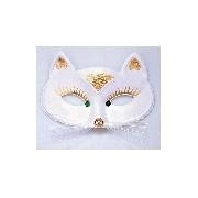 Macska álarc (fehér)