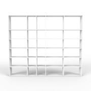 Wohnwand Weiß, MDF, 303 x 252 x 35