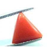 3.17 Carat Natural Italian Triangle Red Coral Moonga Gemstone