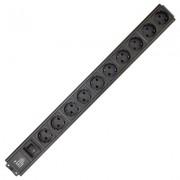 Accesoriu pentru rack: Xcab Xcab-1219, prelungitor cu 12 posturi schuko