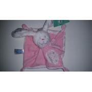 Doudou Plat Lapin Tex Baby Carrefour Rose Blanc Étoile Argent Jouet Bebe Naissance Peluche Éveil Enfant Comfort Blanket Comforter Soft Toys