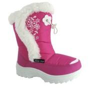 Cizme de zapada fetite apres ski roz alb