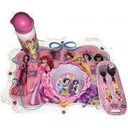 Disney Princesses: Princess Meal Time Magic Collection, Bundle Of 4 (Placemat, Flatware, Bowl And Water Bottle)