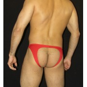 Arroyman Bad Boy Microfiber Jock Brief Jock Strap Underwear Red BAD03