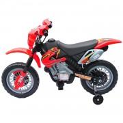 Moto Cross Électrique Enfants A Partir De 3 Ans 6 V Phares Klaxon Musiques 102 X 53 X 66 Cm Rouge Et Noir 18