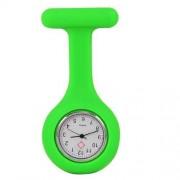 Accessotech Krankenschwester Kittel Hellgrün Gel Silikon Plastik Taschenuhr Brosche Quarz Uhr Uhr