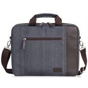 Macaroni Messo 15.6 inch Soft Linen Messenger Bag with Handles and Strap-Blue Grey