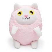 Almofada Gato Kat Branco e Rosa