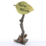 """Hand Painted Resin """"Fairies Welcome"""" Forest Sign For Fairy Gardens, Crafting And Creating"""