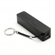 LKM Powerbank 2600mah batteria USB universale NERA