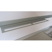 MENSOLA Porta mestoli alluminio anodizzato porta accessori cm 60