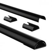 Hama 83170 Aluminium Kabelgoot Halfrond 33mm Zwart 1.1M