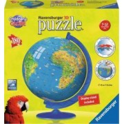 Puzzle 3D Globul Lumii pentru Copii 180 Piese