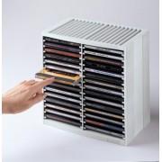 Stand pentru 30 CD/DVD-uri, gri deschis, FELLOWES