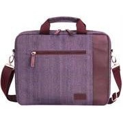Macaroni Messo 15.6 inch Soft Linen Messenger Bag with Handles and Strap-Red