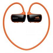 Sony NWZ-W273S -Reproductor MP3 con auriculares in-ear (memoria interna de 4 GB, USB), naranja