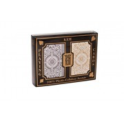 US Playing Card Co. KEM - Carte da poker Arrow Black e Gold Narrow, indice Jumbo [importato da UK]