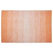 Tapis design 'WASH' 160x230 cm orange en coton