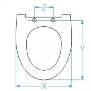 Copriwater Ala sospesa Ceramica Ideal Standard