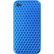 Skin Blautel TPU 4-OK Protek Diamond Oil Apple iPhone 4 4s Albastru