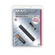 MAG-LITE Solitaire elemlámpa fekete, fókuszálható fényű, tartalék izzóval, kulcstartóval