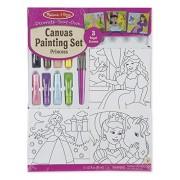 Melissa and Doug Canvas Painting Set - Princess, Multi Color
