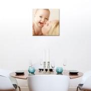 Foto op aluminium - wit (40x40cm)