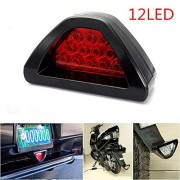 CHAMPLED F1 style 12 LED Rear Tail Brake Stop Light Third Red Strobe safety Fog DRL Lamp For TOYOTA LEXUS ACURA NISSAN MITSUBISHI SUBARU MAZDA