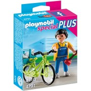 PLAYMOBIL Handyman with Bike Building Kit