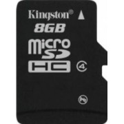 Card de Memorie Kingston microSDHC 8GB Class4 Single Pack