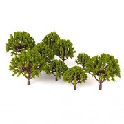 20 Pcs Set 5 Size Trees Tree Model Tree Scene Collection The ? 3cm 8cm With Flowers Model Railway, Diorama And Architectural Model Train Model