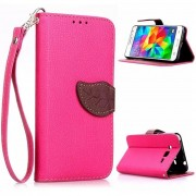 MULBA For Galaxy Grand Prime G530H Stand PU Pink Leather Case Folio Protective Cover for Samsung Galaxy Grand Prime SM-G530H