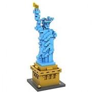 Loz Micro Blocks statue of liberty Model Small Building Block Set Nanoblock Compatible (820 pcs)