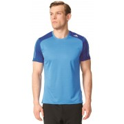 adidas Response Short Sleeve Men ray blue f16/collegiate royal Trail Running Bekleidung